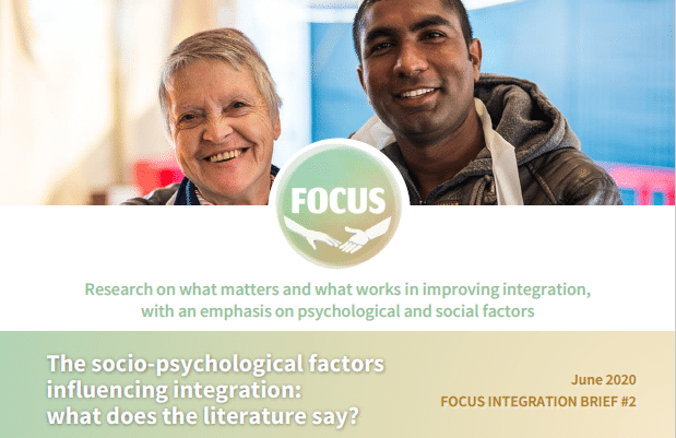 The second FOCUS Integration Brief is out: Socio-psychological factors influencing integration